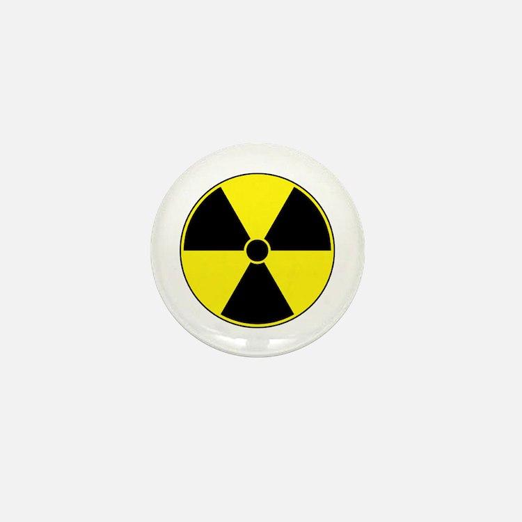 Radiation Symbol (yellow) Mini Button