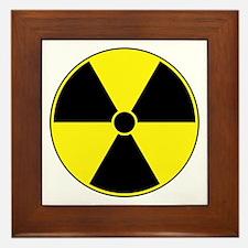 Radiation Symbol (yellow) Framed Tile