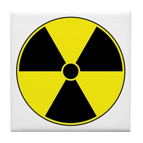 Radiation symbol yellow tile coaster by sciencedoodles - Radioactive coasters ...