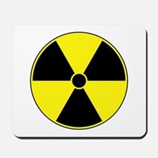 Radiation Symbol (yellow) Mousepad