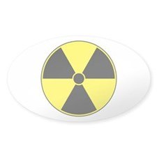 Radiation Symbol (yellow) Oval Decal