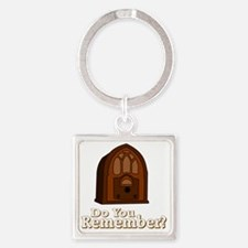 Cute Old time radio Square Keychain