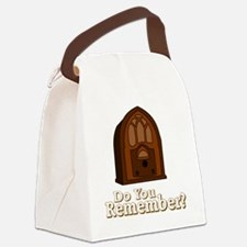 Cute Old time radio Canvas Lunch Bag