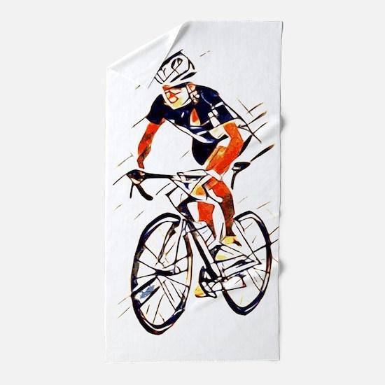 Cyclist Beach Towel