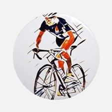 Cyclist Round Ornament