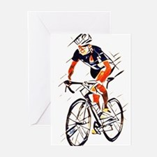 Cyclist Greeting Cards