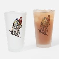 cyclists Drinking Glass