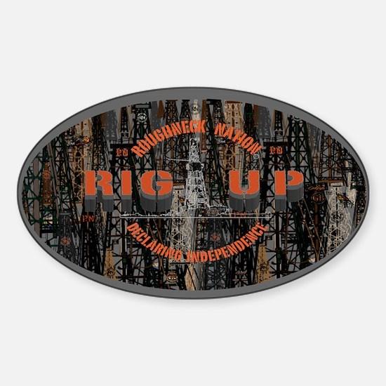 RIG UP CAMO Oilfield Bumper Stickers