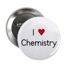 "I Love (heart) Chemistry 2.25"" Button"