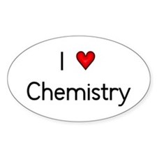 I Love (heart) Chemistry Oval Decal