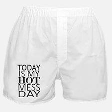 Funny Hot mess Boxer Shorts
