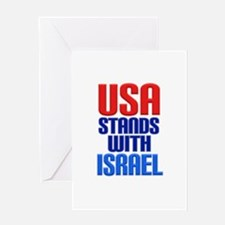 USA Stands with Israel Greeting Cards