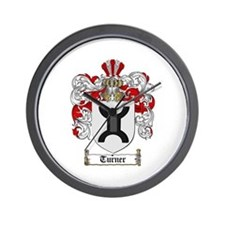 Turner Coat of Arms Wall Clock