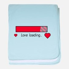 love loading gaming heart baby blanket