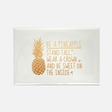 Be A Pineapple Rectangle Magnet