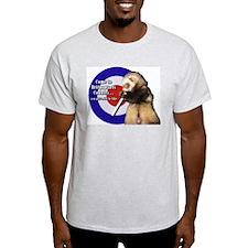 Britpoptarts Cool Smoking Ferret Ash Grey T-Shirt