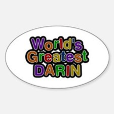 World's Greatest Darin Oval Decal