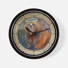 PhotoArt Brown Bear Wall Clock