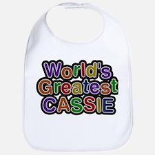 Worlds Greatest Cassie Baby Bib