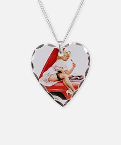 Cool Marilyn Necklace Heart Charm