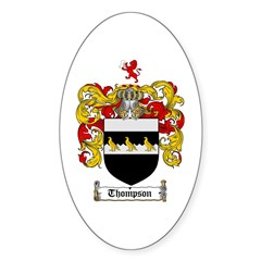 Thompson Coat of Arms Oval Decal