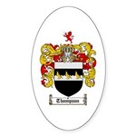 Thompson Coat of Arms Oval Sticker