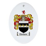 Thompson Coat of Arms Oval Ornament