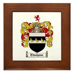 Thompson Coat of Arms Framed Tile