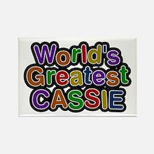 World's Greatest Cassie Rectangle Magnet