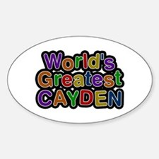 World's Greatest Cayden Oval Decal