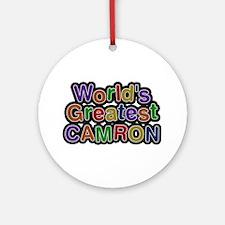 World's Greatest Camron Round Ornament