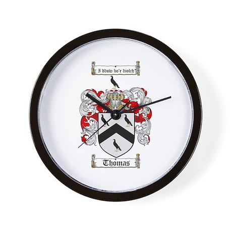 Thomas Coat of Arms Wall Clock