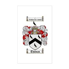 Thomas Coat of Arms Rectangle Decal