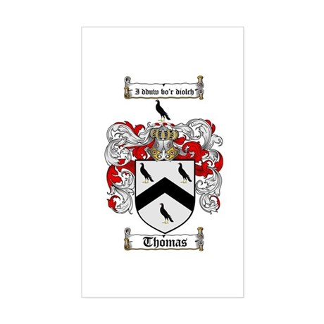 Thomas Coat of Arms Rectangle Sticker