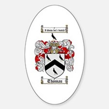 Thomas Coat of Arms Oval Decal
