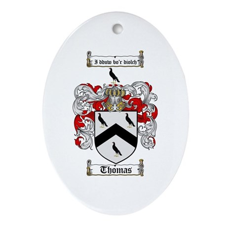 Thomas Coat of Arms Oval Ornament