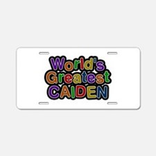World's Greatest Caiden Aluminum License Plate