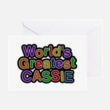 World's Greatest Cassie Greeting Card