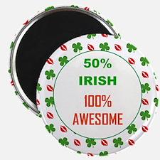 50 PERCENT IRISH Magnet