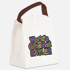 Worlds Greatest Baylee Canvas Lunch Bag