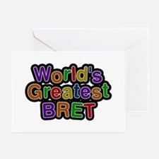 World's Greatest Bret Greeting Card