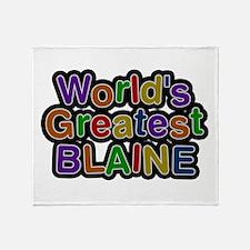 World's Greatest Blaine Throw Blanket