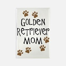 Golden Retriever Mom Rectangle Magnet (10 pack)