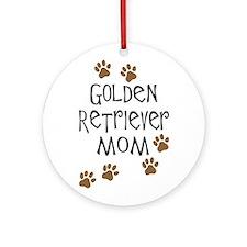 Golden Retriever Mom Ornament (Round)