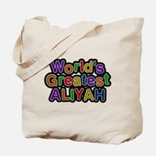 Worlds Greatest Aliyah Tote Bag