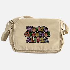 Worlds Greatest Alissa Messenger Bag