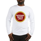 Railroad logo 2c missouri pacific Long Sleeve T-shirts