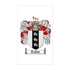 Taylor Coat of Arms Rectangle Decal