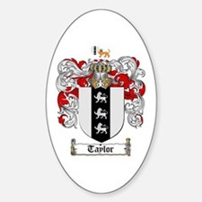 Taylor Coat of Arms Oval Decal