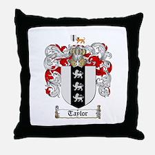 Taylor Coat of Arms Throw Pillow